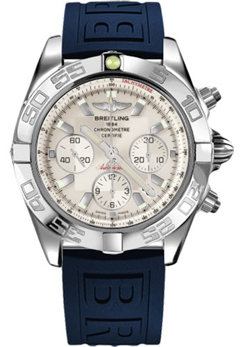 Breitling Watches - Chronomat 44 Steel Polished Bezel - Diver Pro III Strap - Tang - Style No: AB011012/G684-diver-pro-iii-blue-tang
