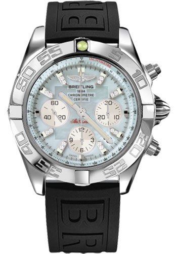 Breitling Watches - Chronomat 44 Steel Polished Bezel - Diver Pro III Strap - Tang - Style No: AB011012/G686-diver-pro-iii-black-tang
