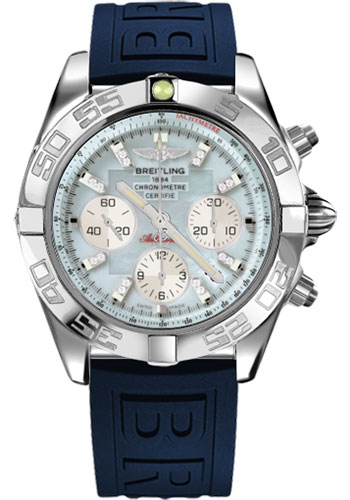 Breitling Watches - Chronomat 44 Steel Polished Bezel - Diver Pro III Strap - Tang - Style No: AB011012/G686-diver-pro-iii-blue-tang