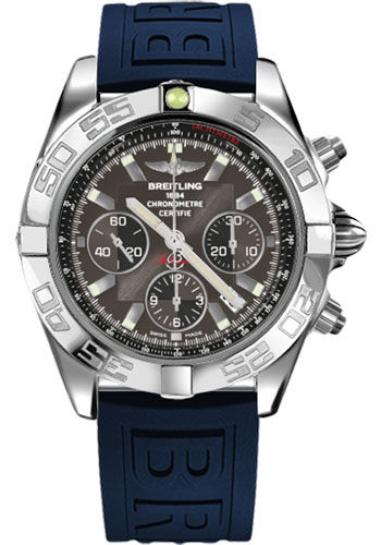Breitling Watches - Chronomat 44 Steel Polished Bezel - Diver Pro III Strap - Tang - Style No: AB011012/M524-diver-pro-iii-blue-tang