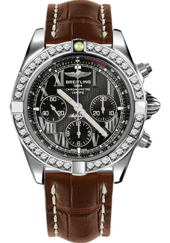 Breitling Watches - Chronomat 44 Steel 40 Dia Bezel - Croco Strap - Deployant - Style No: AB011053/B956-croco-brown-deployant