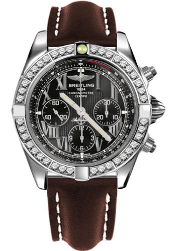 Breitling Watches - Chronomat 44 Steel 40 Dia Bezel - Leather Strap - Tang - Style No: AB011053/B956-leather-brown-tang