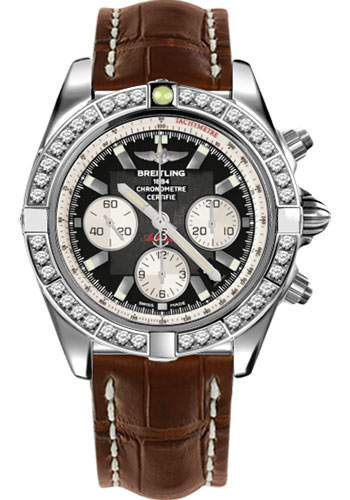 Breitling Watches - Chronomat 44 Steel 40 Dia Bezel - Croco Strap - Deployant - Style No: AB011053/B967-croco-brown-deployant