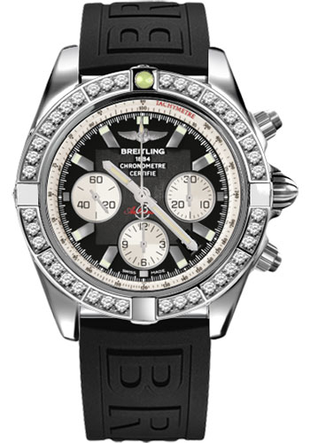 Breitling Watches - Chronomat 44 Steel 40 Dia Bezel - Diver Pro III Strap - Tang - Style No: AB011053/B967-diver-pro-iii-black-tang