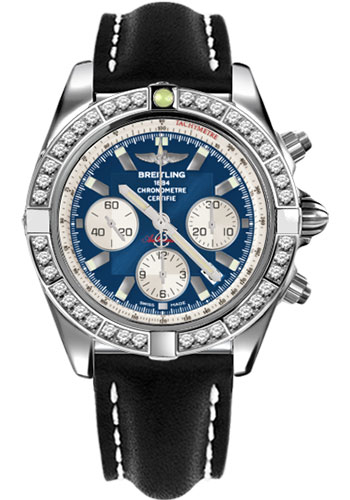 Breitling Watches - Chronomat 44 Steel 40 Dia Bezel - Leather Strap - Tang - Style No: AB011053/C788-leather-black-tang