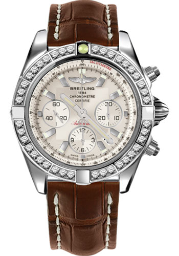 Breitling Watches - Chronomat 44 Steel 40 Dia Bezel - Croco Strap - Deployant - Style No: AB011053/G684-croco-brown-deployant