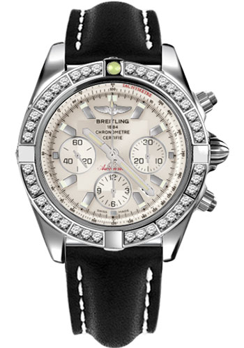 Breitling Watches - Chronomat 44 Steel 40 Dia Bezel - Leather Strap - Tang - Style No: AB011053/G684-leather-black-tang