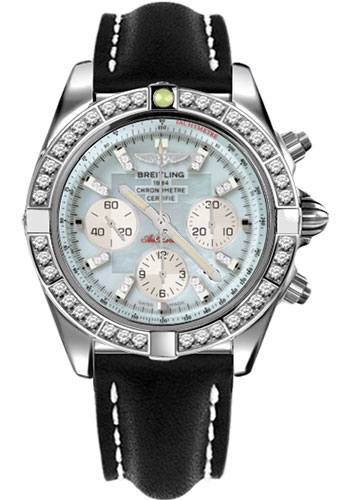 Breitling Watches - Chronomat 44 Steel 40 Dia Bezel - Leather Strap - Tang - Style No: AB011053/G686-leather-black-tang