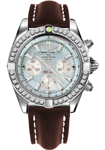 Breitling Watches - Chronomat 44 Steel 40 Dia Bezel - Leather Strap - Tang - Style No: AB011053/G686-leather-brown-tang