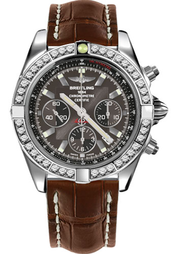 Breitling Watches - Chronomat 44 Steel 40 Dia Bezel - Croco Strap - Deployant - Style No: AB011053/M524-croco-brown-deployant