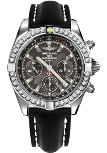 Breitling Watches - Chronomat 44 Steel 40 Dia Bezel - Leather Strap - Tang - Style No: AB011053/M524-leather-black-tang
