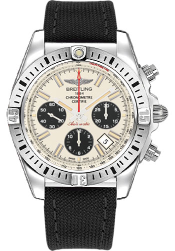 Breitling Watches - Chronomat 44 Airborne Military Strap - Style No: AB01154G/G786-military-black-deployant