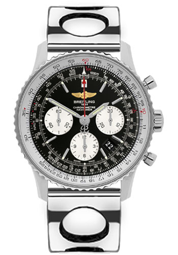 Breitling Watches - Navitimer 01 43mm - Stainless Steel - Air Racer Bracelet - Style No: AB012012/BB01-air-racer-steel