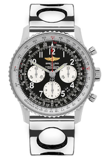 Breitling Watches - Navitimer 01 43mm - Stainless Steel - Air Racer Bracelet - Style No: AB012012/BB02-air-racer-steel