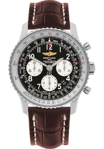 Breitling Watches - Navitimer 01 43mm - Stainless Steel - Croco Strap - Tang - Style No: AB012012/BB02-croco-brown-tang