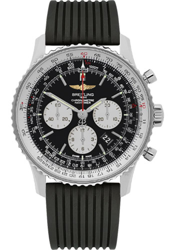 Breitling Watches - Navitimer 01 46mm - Stainless Steel - Rubber Strap - Deployant - Style No: AB012721/BD09-rubber-black-deployant