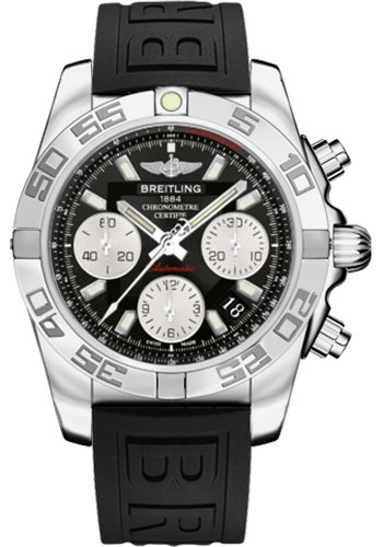 Breitling Watches - Chronomat 41 Steel Polished Bezel - Diver Pro III Strap - Deployant - Style No: AB014012/BA52-diver-pro-iii-black-deployant