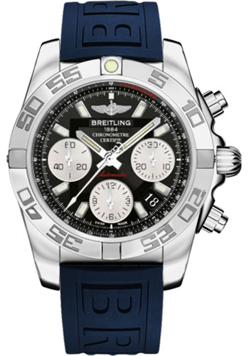 Breitling Watches - Chronomat 41 Steel Polished Bezel - Diver Pro III Strap - Tang - Style No: AB014012/BA52-diver-pro-iii-blue-tang