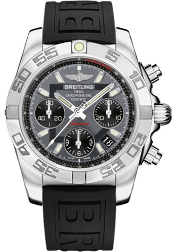 Breitling Watches - Chronomat 41 Steel Polished Bezel - Diver Pro III Strap - Deployant - Style No: AB014012/F554-diver-pro-iii-black-deployant