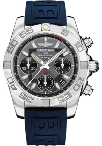 Breitling Watches - Chronomat 41 Steel Polished Bezel - Diver Pro III Strap - Deployant - Style No: AB014012/F554-diver-pro-iii-blue-deployant