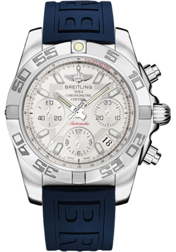 Breitling Watches - Chronomat 41 Steel Polished Bezel - Diver Pro III Strap - Deployant - Style No: AB014012/G711-diver-pro-iii-blue-deployant
