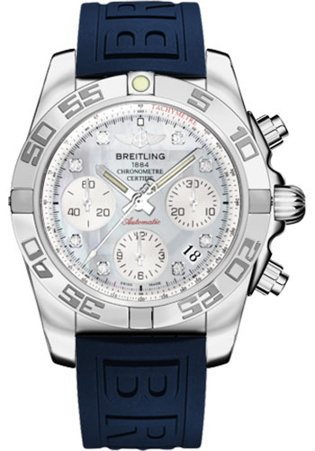 Breitling Watches - Chronomat 41 Steel Polished Bezel - Diver Pro III Strap - Deployant - Style No: AB014012/G712-diver-pro-iii-blue-deployant