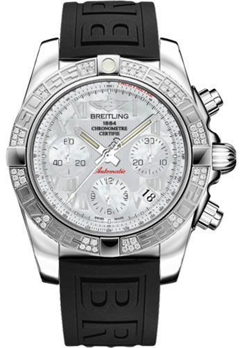 Breitling Watches - Chronomat 41 Steel Diamond Bezel - Diver Pro III Strap - Tang - Style No: AB0140AA/A746-diver-pro-iii-black-tang