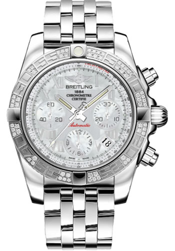 Breitling Watches - Chronomat 41 Steel Diamond Bezel - Pilot Bracelet - Style No: AB0140AA/A746-pilot-steel