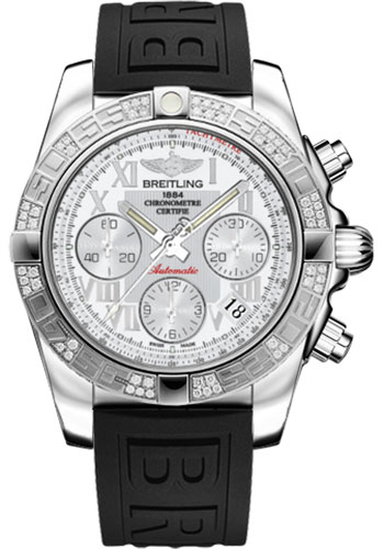 Breitling Watches - Chronomat 41 Steel Diamond Bezel - Diver Pro III Strap - Tang - Style No: AB0140AA/A747-diver-pro-iii-black-tang