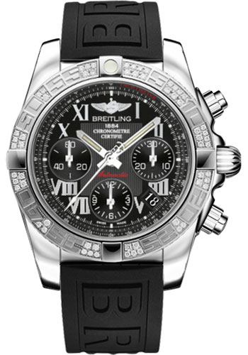 Breitling Watches - Chronomat 41 Steel Diamond Bezel - Diver Pro III Strap - Deployant - Style No: AB0140AA/BC04-diver-pro-iii-black-deployant