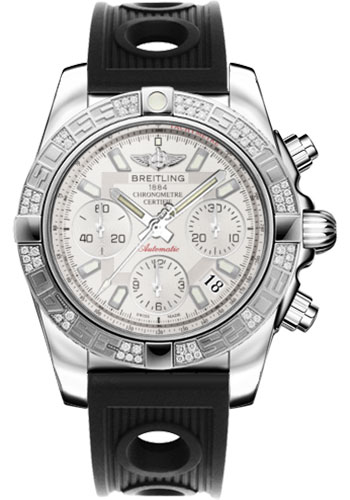 Breitling Watches - Chronomat 41 Steel Diamond Bezel - Ocean Racer Strap - Style No: AB0140AA/G711-ocean-racer-black-folding