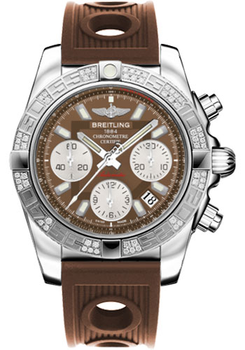 Breitling Watches - Chronomat 41 Steel Diamond Bezel - Ocean Racer Strap - Style No: AB0140AA/Q583-ocean-racer-bronze-folding