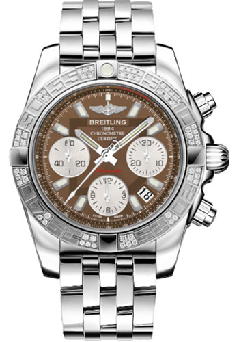 Breitling Watches - Chronomat 41 Steel Diamond Bezel - Pilot Bracelet - Style No: AB0140AA/Q583-pilot-steel