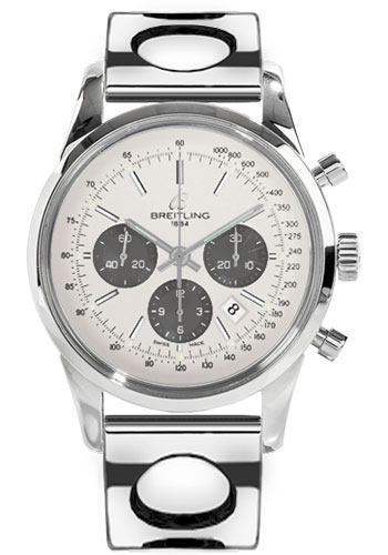 Breitling Watches - Transocean Chronograph Stainless Steel - Bracelet - Style No: AB015212/G724-air-racer-steel