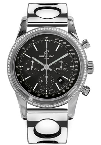 Breitling Watches - Transocean Chronograph Steel - Dia Bezel - Bracelet - Style No: AB015253/BA99-air-racer-steel