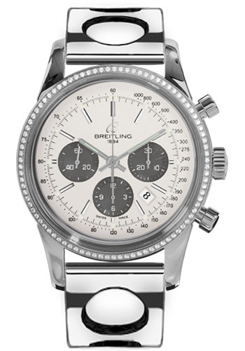 Breitling Watches - Transocean Chronograph Steel - Dia Bezel - Bracelet - Style No: AB015253/G724-air-racer-steel