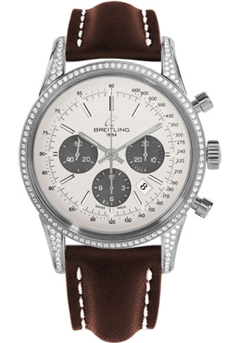 Breitling Watches - Transocean Chronograph Steel - Dia Case - Leather Strap - Deployant - Style No: AB0152AF/G724-leather-brown-deployant