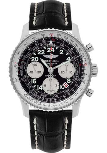 Breitling Watches - Navitimer Cosmonaute Stainless Steel - Style No: AB021012/BB59-croco-black-deployant