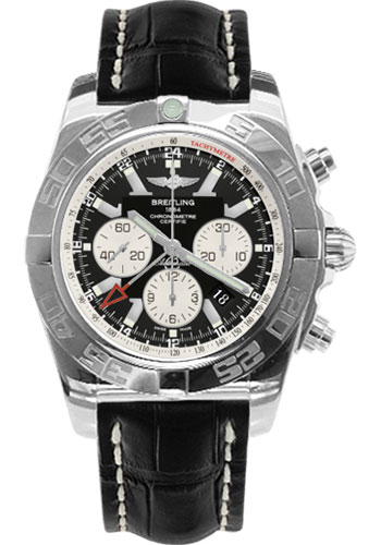 Breitling Watches - Chronomat GMT Croco Strap - Style No: AB041012/BA69-croco-black-tang