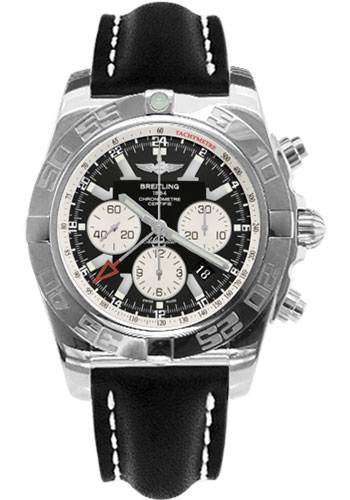 Breitling Watches - Chronomat GMT Leather Strap - Style No: AB041012/BA69-leather-black-tang