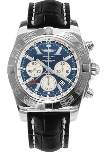 Breitling Watches - Chronomat GMT Croco Strap - Style No: AB041012/C834-croco-black-tang