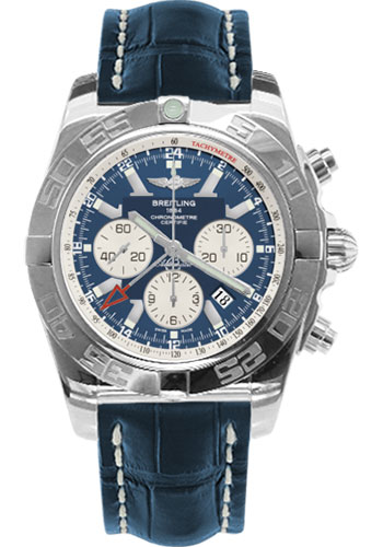 Breitling Watches - Chronomat GMT Croco Strap - Style No: AB041012/C834-croco-blue-tang