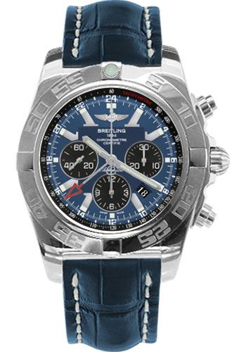 Breitling Watches - Chronomat GMT Croco Strap - Style No: AB041012/C835-croco-blue-tang