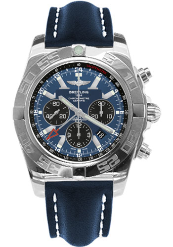 Breitling Watches - Chronomat GMT Leather Strap - Style No: AB041012/C835-leather-blue-tang