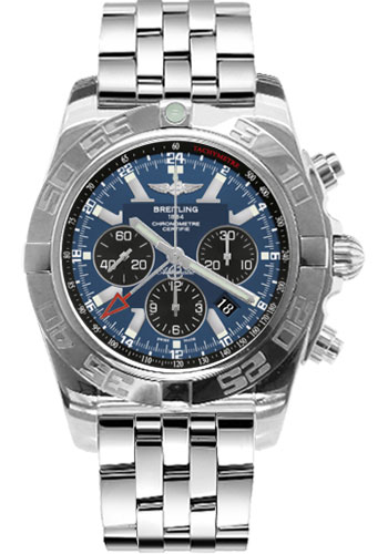 Breitling Watches - Chronomat GMT Stainless Steel Bracelet - Style No: AB041012/C835-pilot-steel
