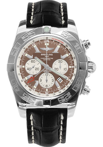 Breitling Watches - Chronomat GMT Croco Strap - Style No: AB041012/Q586-croco-black-tang