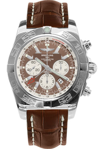 Breitling Watches - Chronomat GMT Croco Strap - Style No: AB041012/Q586-croco-brown-tang