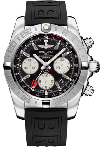 Breitling Watches - Chronomat 44 GMT Stainless Steel on Diver Pro III Deployant - Style No: AB042011/BB56-diver-pro-iii-black-folding