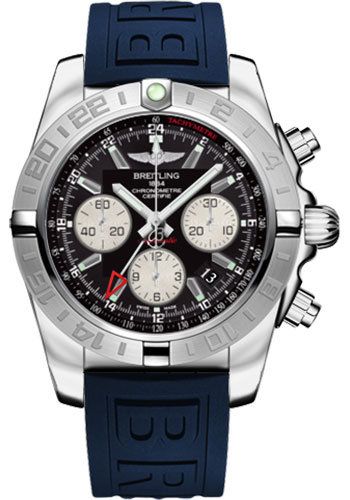 Breitling Watches - Chronomat 44 GMT Stainless Steel on Diver Pro III Tang - Style No: AB042011/BB56-diver-pro-iii-blue-tang