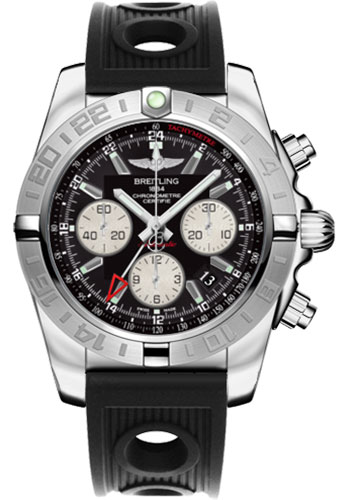 Breitling Watches - Chronomat 44 GMT Stainless Steel on Diver Pro II Deployant - Style No: AB042011/BB56-ocean-racer-black-folding